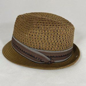 Stacy Adams Classic Fedora Hat Taupe 100% TOYO